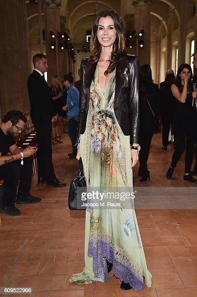 Chris Pitanguy in Alberta Ferretti attends the Alberta Ferretti show during Milan Fashion Week Spring/Summer 2017 on September 21 2016 in Milan Italy