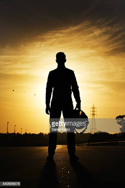 Chris Pither driver of the Super Black Racing Fold Falcon FGX poses for a photo prior to V8 Supercars practice ahead of the Darwin Triple Crown at...