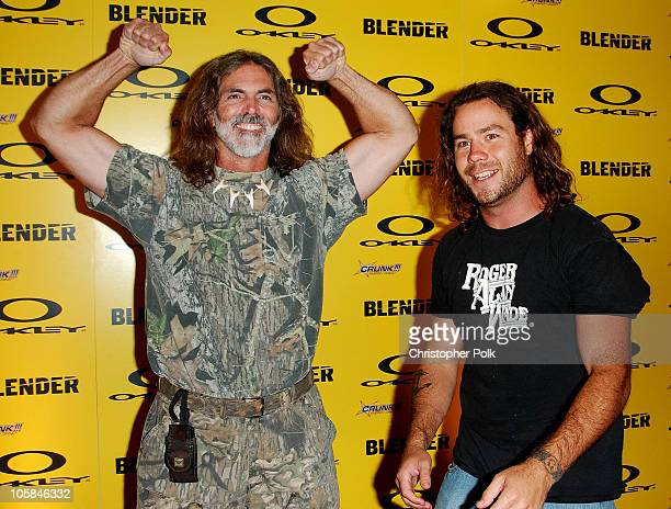 Chris Pontius and guest during Blender/Oakley X Games Party - Arrivals at The Key Club in Los Angeles, California, United States.