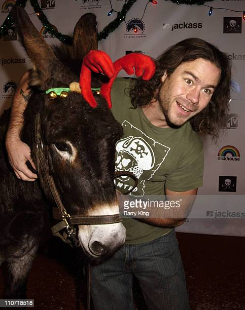 Chris Pontius and JoJo the Donkey during Jackass Jingle Balls Ball Party for 'Jackass The Box Set' DVD Release at Circus Nightclub in Hollywood...