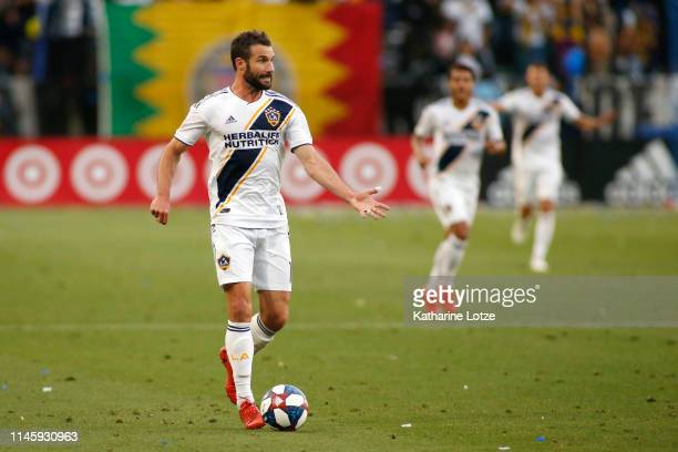 Chris Pontius of Los Angeles Galaxy reacts during a game against Real Salt Lake at Dignity Health Sports Park on April 28 2019 in Carson California