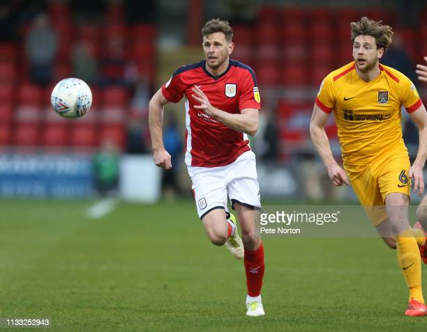 Chris Porter of Crewe Alexandra in action during the Sky Bet League Two match between Crewe Alexandra and Northampton Town at Gresty Road on March 02...