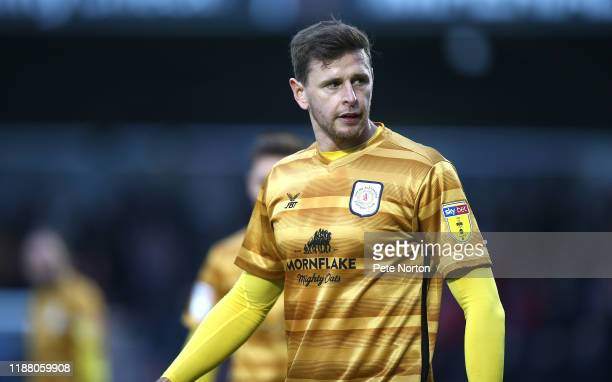Chris Porter of Crewe Alexandra in action during the Sky Bet League Two match between Northampton Town and Crewe Alexandra at PTS Academy Stadium on...