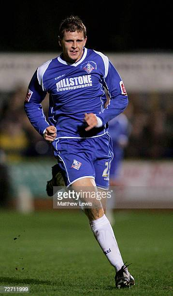 Chris Porter of Oldham Athletic in action during the FA Cup Second Round match between Kings Lynn and Oldham Athletic at The Walks Stadium on...