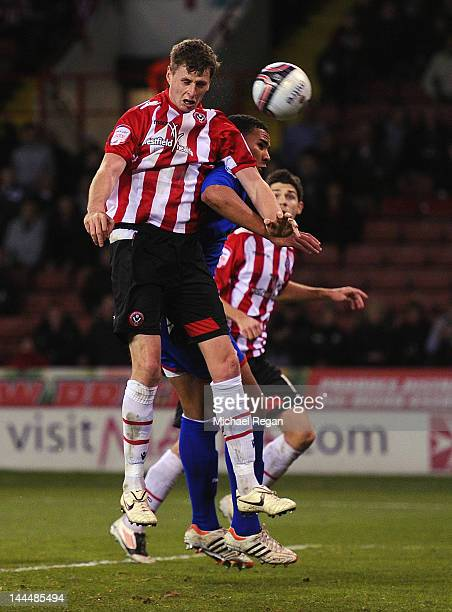 Chris Porter of Sheffield United scores to make it 10 during the npower League One Semi Final 2nd Leg between Sheffield United and Stevenage at...