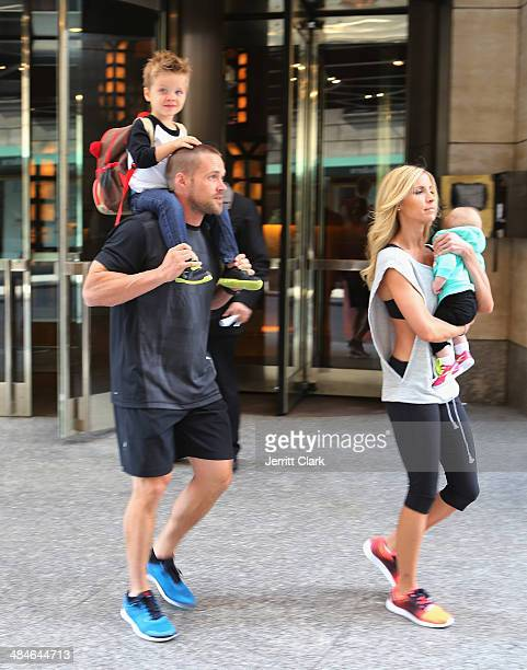 Chris Powell and wife Heidi Powell go for a family outing with son Cash and  daughter 8f9944777
