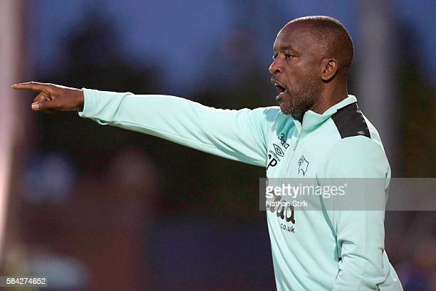 Chris Powell assistant manager of Derby County during the PreSeason Friendly between Chesterfield and Derby County at Proact Stadium on July 26 2016...
