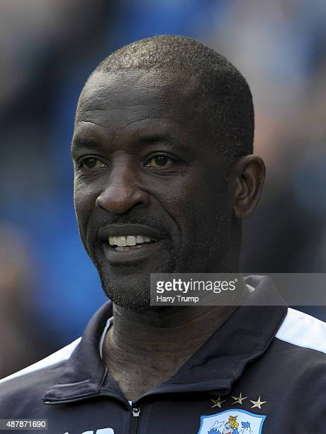 Chris Powell manager of Huddersfield looks on during the Sky Bet Championship match between Cardiff City and Huddersfield at Cardiff City Stadium on...