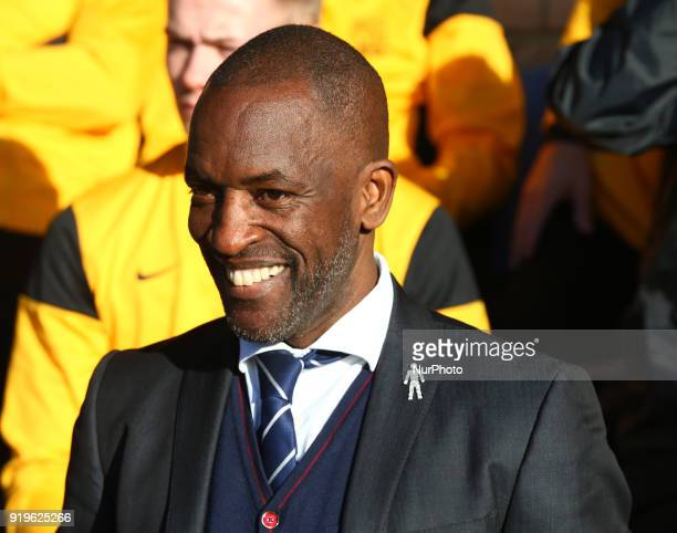 Chris Powell manager of Southend United during League One match between Southend United against Portsmouth at Roots Hall stadium Southend England on...