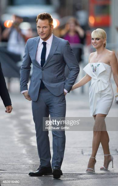 Chris Pratt and Anna Faris are seen on July 21 2014 in Los Angeles California