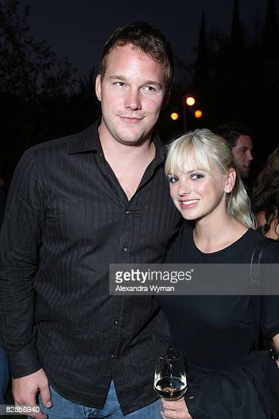 Chris Pratt and Anna Faris at The Lollipop Theater Network's Game Day 2009 Sneak Peek Event held at The Home of Janet Crown on September 16 2008 in...