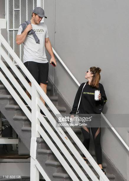 Chris Pratt and his wife Katherine Schwarzenegger are seen on August 15 2019 in Los Angeles California