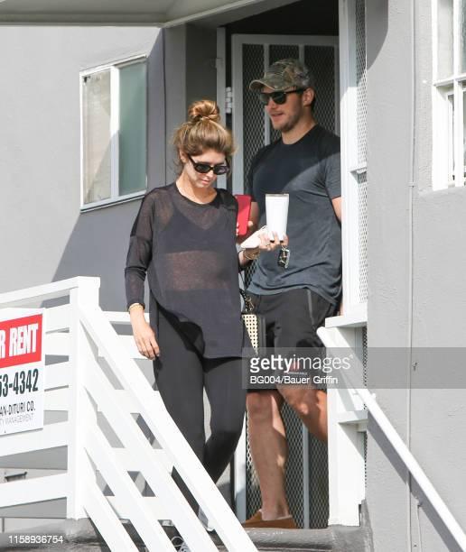 Chris Pratt and Katherine Schwarzenegger are seen on August 01 2019 in Los Angeles California