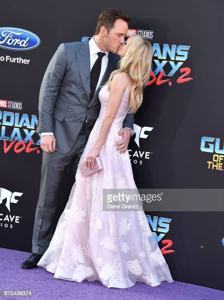 Chris Pratt Anna Faris arrives at the Premiere Of Disney And Marvel's Guardians Of The Galaxy Vol 2 at Dolby Theatre on April 19 2017 in Hollywood...