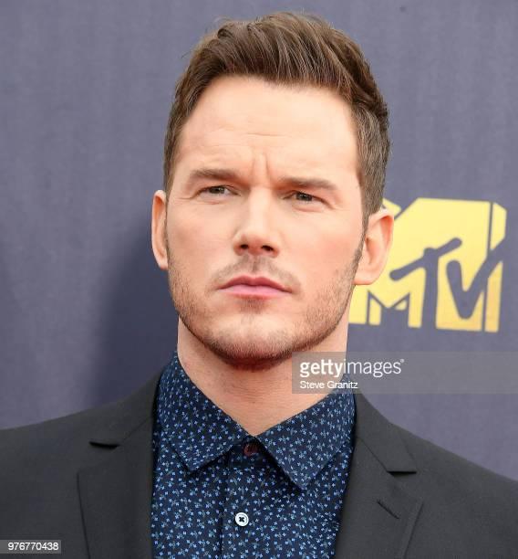 Chris Pratt arrives at the 2018 MTV Movie And TV Awards at Barker Hangar on June 16 2018 in Santa Monica California