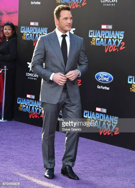 Chris Pratt arrives at the Premiere Of Disney And Marvel's Guardians Of The Galaxy Vol 2 at Dolby Theatre on April 19 2017 in Hollywood California