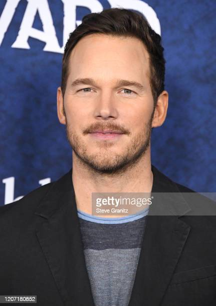 """Chris Pratt arrives at the Premiere Of Disney And Pixar's """"Onward"""" on February 18, 2020 in Hollywood, California."""
