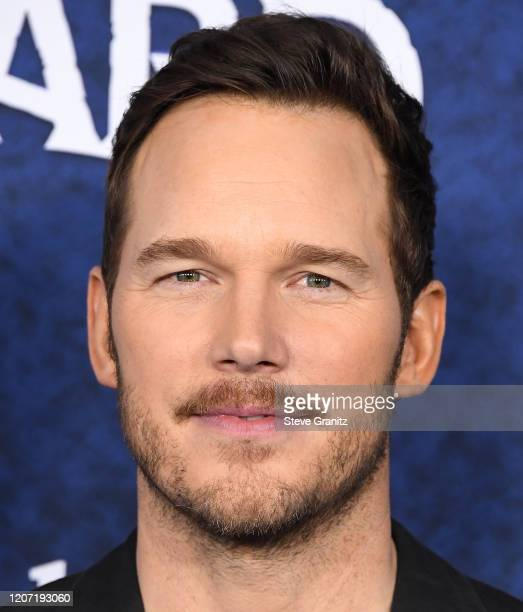 Chris Pratt arrives at the Premiere Of Disney And Pixar's Onward on February 18 2020 in Hollywood California