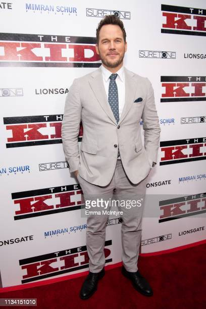 Chris Pratt arrives at the premiere of Lionsgate's 'The Kid' at ArcLight Hollywood on March 06 2019 in Hollywood California