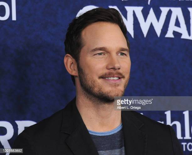 Chris Pratt arrives for Premiere Of Disney And Pixar's Onward held at the El Capitan Theatre on February 18 2020 in Hollywood California