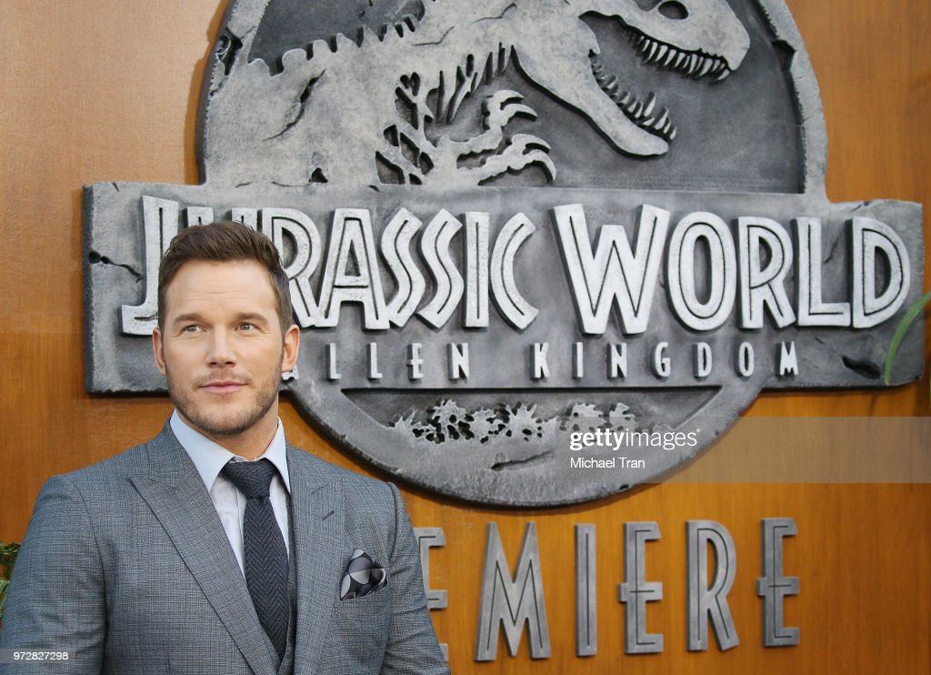 Chris Pratt arrives to the Los Angeles premiere of Universal Pictures and Amblin Entertainment's 'Jurassic World: Fallen Kingdom' held at Walt Disney Concert Hall on June 12, 2018 in Los Angeles, California.