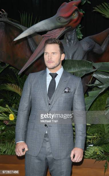 Chris Pratt arrives to the Los Angeles premiere of Universal Pictures and Amblin Entertainment's Jurassic World Fallen Kingdom held at Walt Disney...