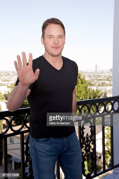 Chris Pratt at the 'Guardians of the Galaxy Vol 2' Press Conference at the London Hotel on April 20 2017 in West Hollywood California