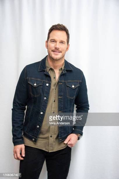 """Chris Pratt at the """"Onward"""" Press Conference at the SLS Hotel on February 14, 2020 in Beverly Hills, California."""