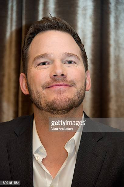 """Chris Pratt at the """"Passengers"""" press conference at Mastro's Steakhouse on December 7, 2016 in Beverly Hills, California."""