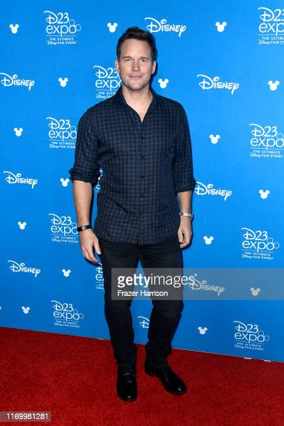 Chris Pratt attends Go Behind The Scenes with Walt Disney Studios during D23 Expo 2019 at Anaheim Convention Center on August 24 2019 in Anaheim...