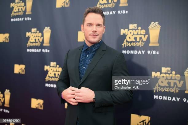 Chris Pratt attends the 2018 MTV Movie And TV Awards at Barker Hangar on June 16 2018 in Santa Monica California