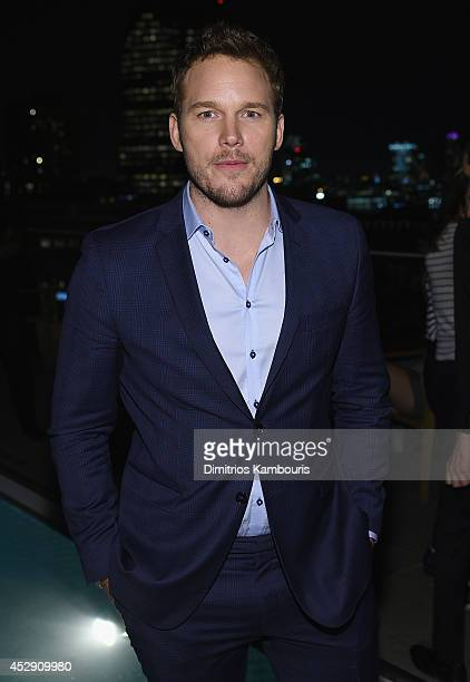 Chris Pratt attends The Cinema Society with Men's Fitness and FIJI Water special screening of Marvel's Guardians of the Galaxy after party at The...