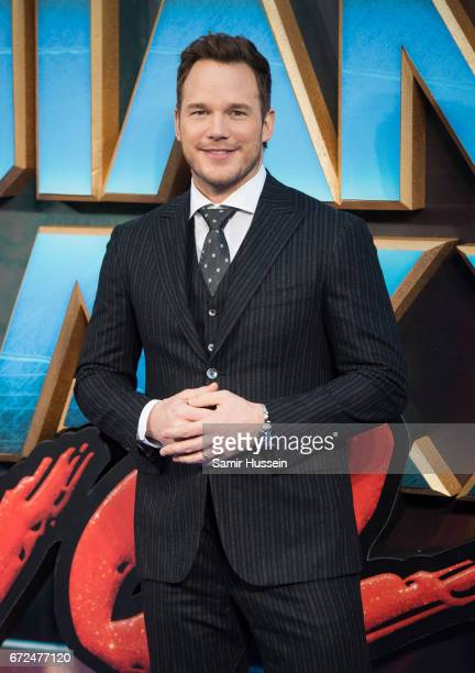 Chris Pratt attends the European Gala Screening of 'Guardians of the Galaxy Vol 2' at Eventim Apollo on April 24 2017 in London United Kingdom