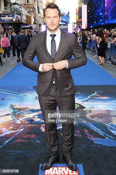 Chris Pratt attends the European premiere of Guardians Of The Galaxy at The Empire Leicester Square on July 24 2014 in London England