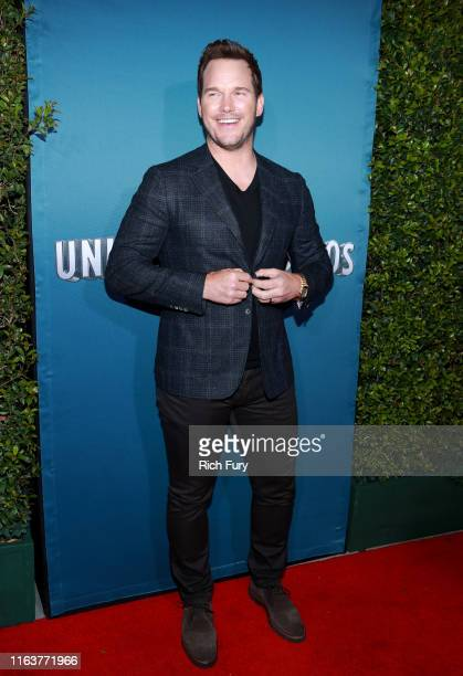 Chris Pratt attends the grand opening celebration of 'Jurassic World The Ride' at Universal Studios Hollywood on July 22 2019 in Universal City...