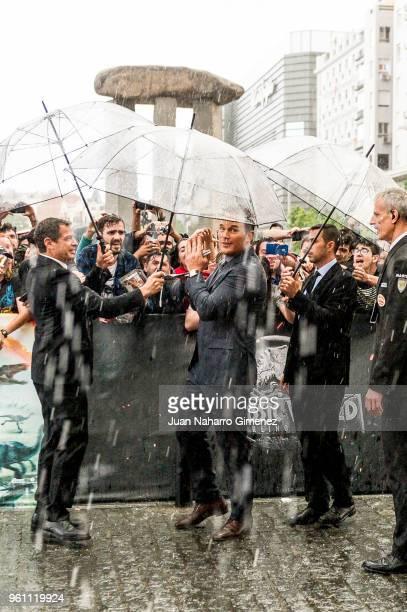 Chris Pratt attends the 'Jurassic World Fallen Kindom' premiere at Wizink Center on May 21 2018 in Madrid Spain