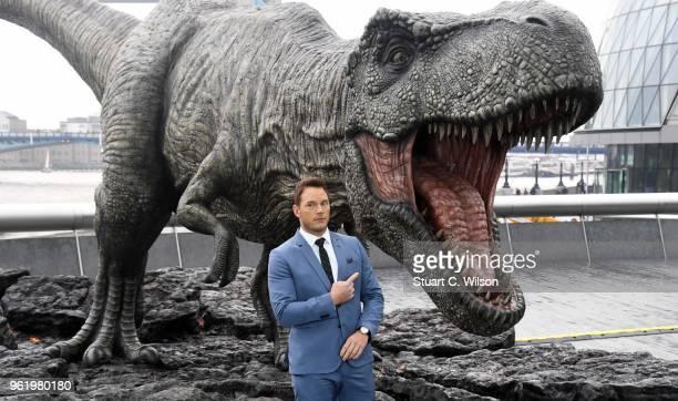Chris Pratt attends the 'Jurassic World Fallen Kingdom' photocall at London Bridge on May 24 2018 in London England