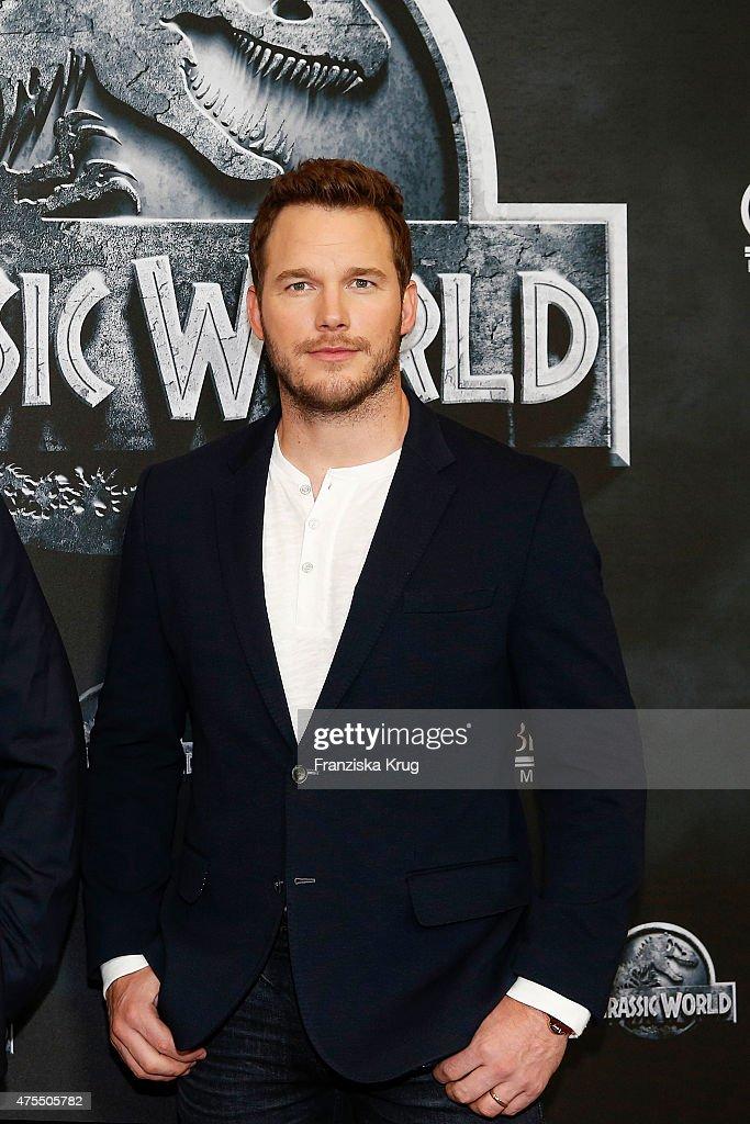 Chris Pratt attends the 'Jurassic World' Photocall on June 01, 2015 in Berlin, Germany.