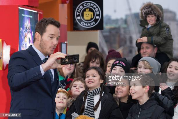 Chris Pratt attends the opening of the PopUp Lego cafe The Coffee Chain to celebrate the release of The Lego Movie 2 at Observation Point on February...