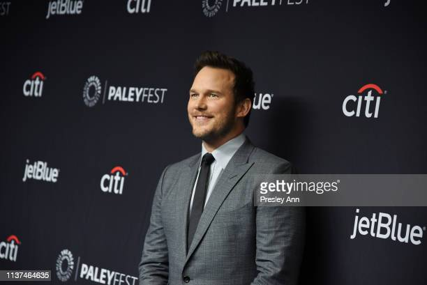 Chris Pratt attends The Paley Center For Media's 2019 PaleyFest LA Parks And Recreation 10th Anniversary Reunion at Dolby Theatre on March 21 2019 in...