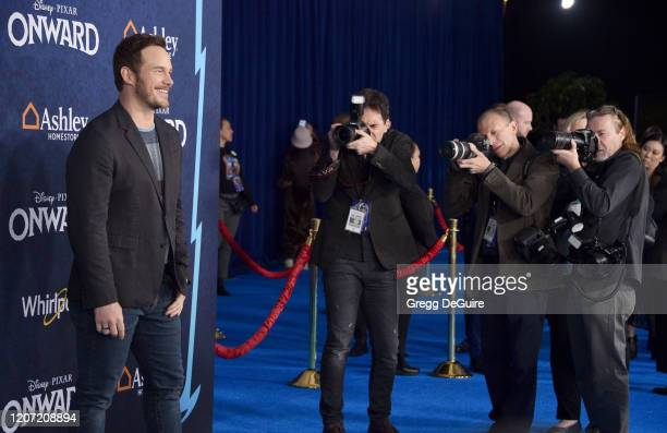 Chris Pratt attends the Premiere Of Disney And Pixar's Onward on February 18 2020 in Hollywood California