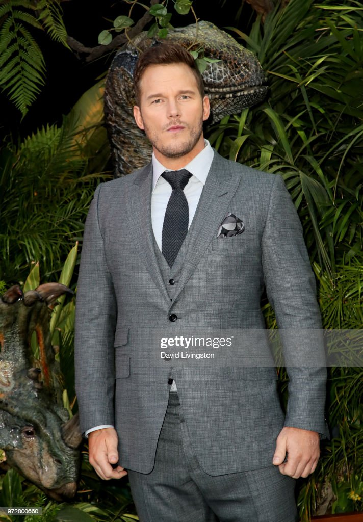 Chris Pratt attends the premiere of Universal Pictures and Amblin Entertainment's 'Jurassic World: Fallen Kingdom' at Walt Disney Concert Hall on June 12, 2018 in Los Angeles, California.