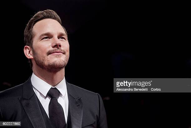 Chris Pratt attends the 'The Magnificent Seven' Premiere during the 73rd Venice Film Festival at Palazzo del Casino on September 10 2016 in Venice...