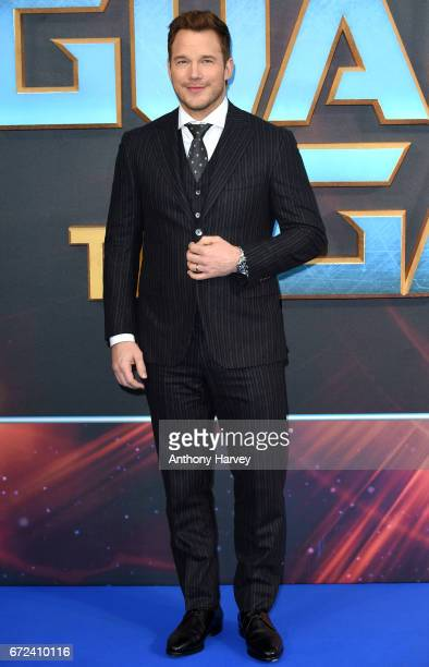 Chris Pratt attends the UK screening of 'Guardians of the Galaxy Vol 2' at Eventim Apollo on April 24 2017 in London United Kingdom