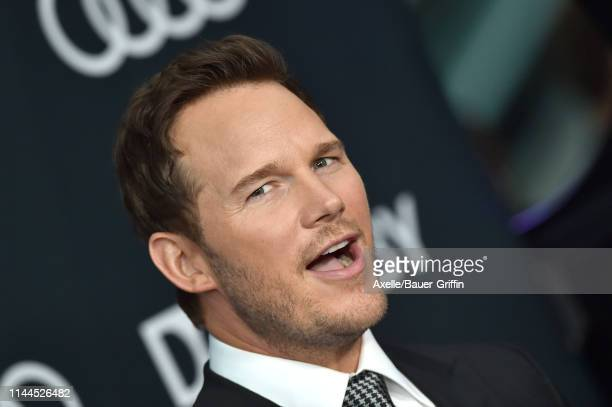 Chris Pratt attends the World Premiere of Walt Disney Studios Motion Pictures 'Avengers Endgame' at Los Angeles Convention Center on April 22 2019 in...