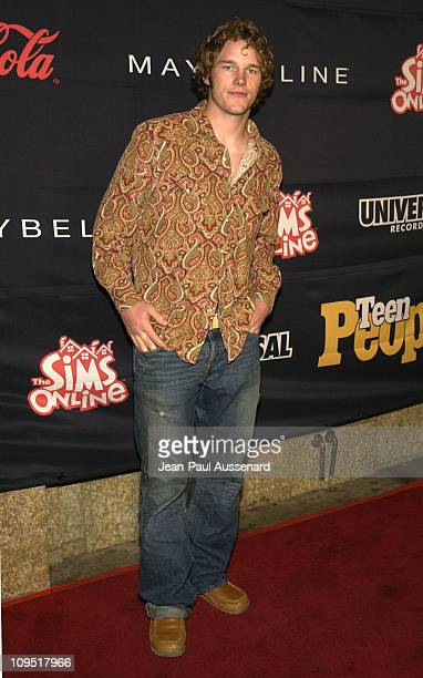 Chris Pratt during Teen People and Universal Records Honor Nelly as the 2002 Artist of the Year Arrivals at Ivar in Hollywood California United States