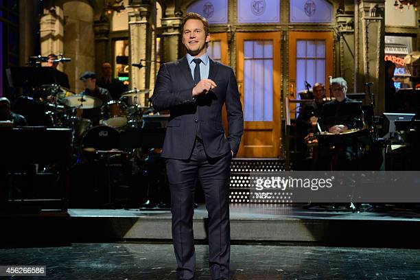 LIVE Chris Pratt Episode 1663 Pictured Actor Chris Pratt during the opening monologue on September 27 2014