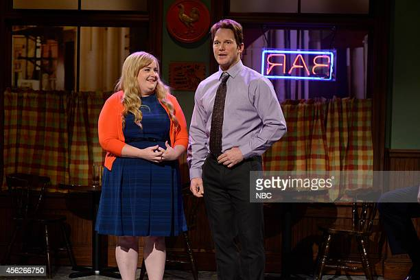 LIVE Chris Pratt Episode 1663 Pictured Aidy Bryant and Chris Pratt during the Booty Rap skit on September 27 2014