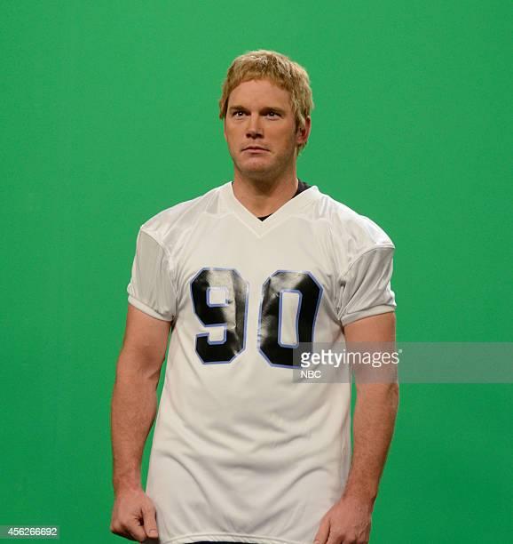 """Chris Pratt"""" Episode 1663 -- Pictured: Chris Pratt as Donald Washburn during the """"NFL Intros"""" skit on September 27, 2014 --"""
