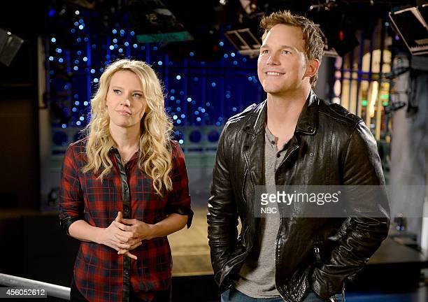 """Chris Pratt"""" Episode 1663 -- Pictured: Kate McKinnon and Chris Pratt on September 27, 2014 --"""
